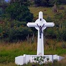 The Crucifix on the Hill by Roland Pozo