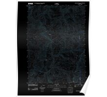 USGS Topo Map Oregon Kenyon Mountain 20110824 TM Inverted Poster