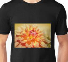 Dahlia in Peach. Unisex T-Shirt
