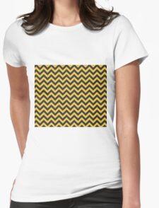 Hufflepuff Chevron Womens Fitted T-Shirt