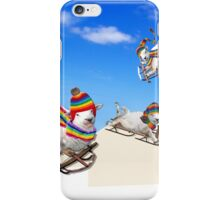 Fluffy Fun in the Snow iPhone Case/Skin