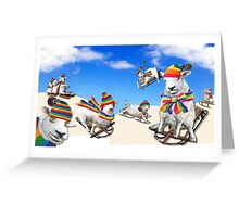 Fluffy Fun in the Snow Greeting Card