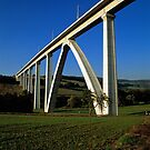 Modern railway viaduct, Germany. by David A. L. Davies