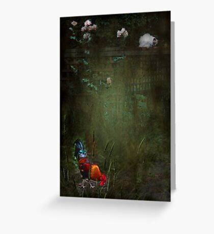 """""""Rustle Continued ....he felt as though he was being watched..."""" Greeting Card"""