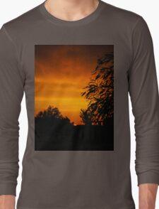 Fiery Orange Sunset Long Sleeve T-Shirt