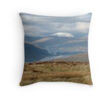 Lake and Mountain Throw Pillow