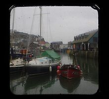 Mevagissey Harbour TTV Triptych by Mark Wilson