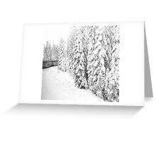 Over the hill and thru the woods... Greeting Card