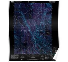 USGS Topo Map Oregon Coffeepot Creek 279387 2004 24000 Inverted Poster