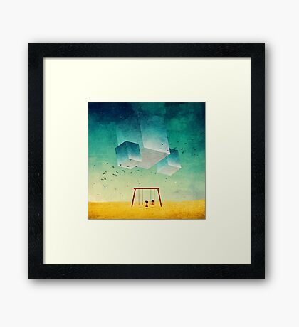 They're Coming (The Cubes) Framed Print
