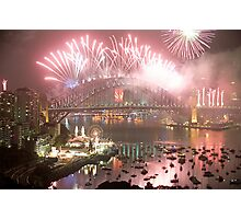 City Of Light # 2 - Sydney Harbour New Years Eve  Photographic Print
