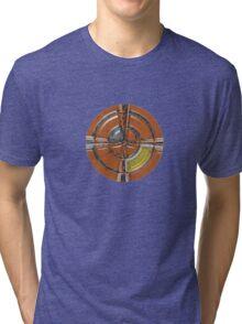 Round red crucifix Tri-blend T-Shirt