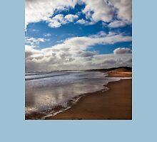 Northumbrian beach scene Unisex T-Shirt