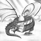 &quot;A Mothers Love&quot; Dragon Mother Guarding her Egg by iLovePencils