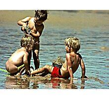 seaside fun Photographic Print