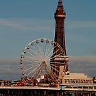 Blackpool Tower and Big Wheel by Peter Elliott