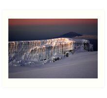 Kilimanjaro, Mt Meru & Glacier Art Print
