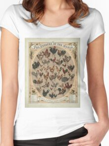 Poultry of the World (1868) Women's Fitted Scoop T-Shirt