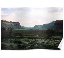 Evening light and shadow on Indian Creek Canyon Poster