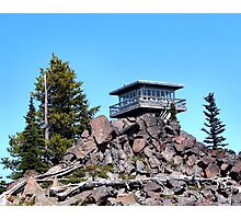 Flag Point Fire Lookout  Photographic Print
