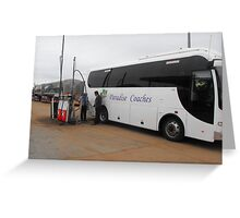 A Coach to Paradise Greeting Card