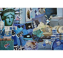 Blue Life in Collage Photographic Print