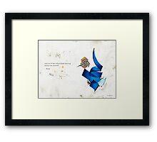 Arabic calligraphy - Rumi - journey into self Framed Print