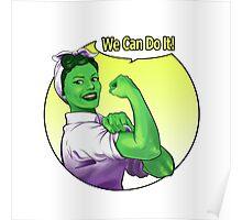 She-hulk the Riveter Poster