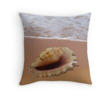 Strombus Shell by the Shore Throw Pillow