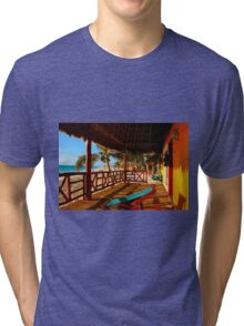 Sunset at Playa del Carmen, MEXICO Tri-blend T-Shirt