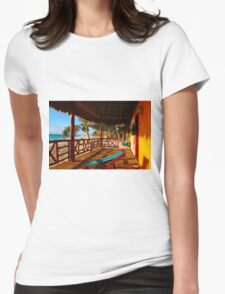 Sunset at Playa del Carmen, MEXICO Womens Fitted T-Shirt