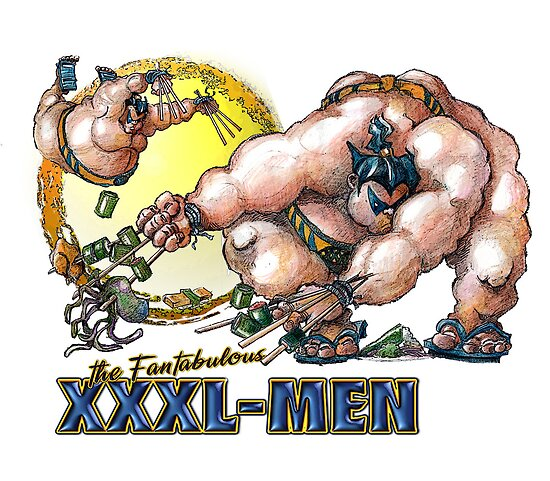 the Fantabulous XXXl men - Sumo-rine by Paul  Reynolds