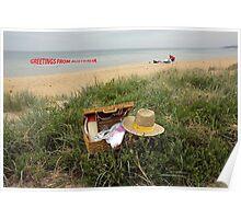 Picnic on Mornington beach Poster