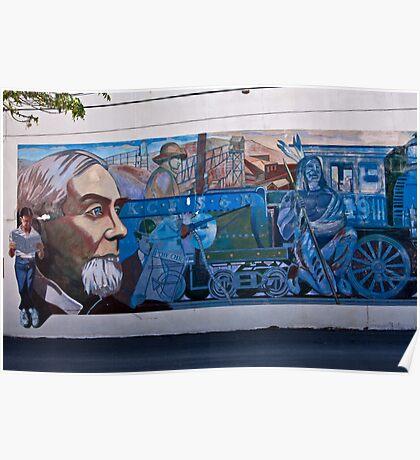 Train Mural Poster