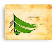 Arabic calligraphy - Rumi - Strange pull Canvas Print
