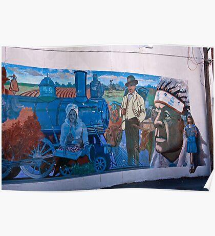 Train Mural / last view Poster
