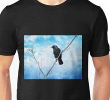 Jackdaw on Blue. Unisex T-Shirt