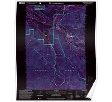 USGS Topo Map Oregon Rhododendron 281260 1997 24000 Inverted Poster