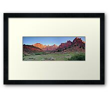 Sunrise at Tower of the Virgins - Panoramic View Framed Print