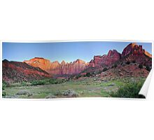 Sunrise at Tower of the Virgins - Panoramic View Poster