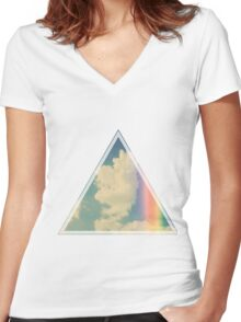 Hipster Sky  Women's Fitted V-Neck T-Shirt