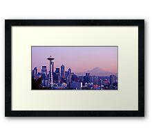 Good evening, Seattle! Framed Print
