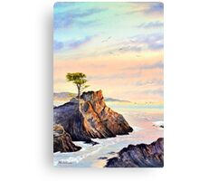 Lone Cypress Tree Pebble Beach California Canvas Print