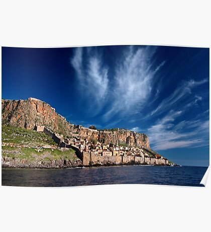 The medieval castletown of Monemvasia Poster