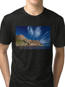 The medieval castletown of Monemvasia Tri-blend T-Shirt