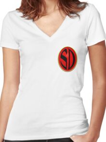 Strontium Dog Badge Women's Fitted V-Neck T-Shirt