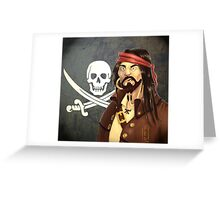 One-tooth pirate Greeting Card