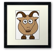 Grover The Goat in Brown Framed Print