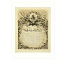 Second Inaugural AddressPresident Abraham Lincoln (March 4 1865) Art Print