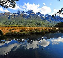 Mirror Lakes. South Island, New Zealand. by Ralph de Zilva